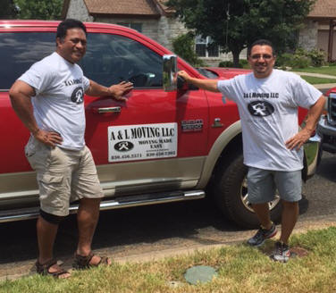 Alex Sione and Leon Rivera, Jr. owners of A & L Moving LLC.